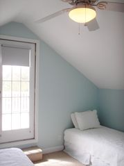 Rehoboth Beach cottage photo - Third bed and door that leads to balcony