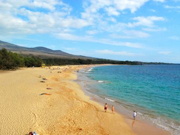 Big Beach in Makena (6 miles south)