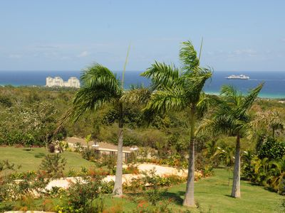 Montego Bay villa rental - The 1 1/2 acre plot offers views of cruise ships as they sail into Montego Bay