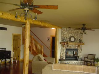 "Cedar Lake cabin photo - Two living rooms main floor w/32"" T.V. (not shown)"