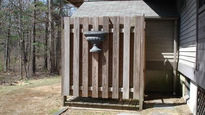 Private Outdoor shower with hot and cold water