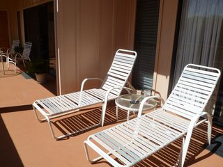 Poipu condo photo - Sunny end of the lanai is perfect for sunbathing