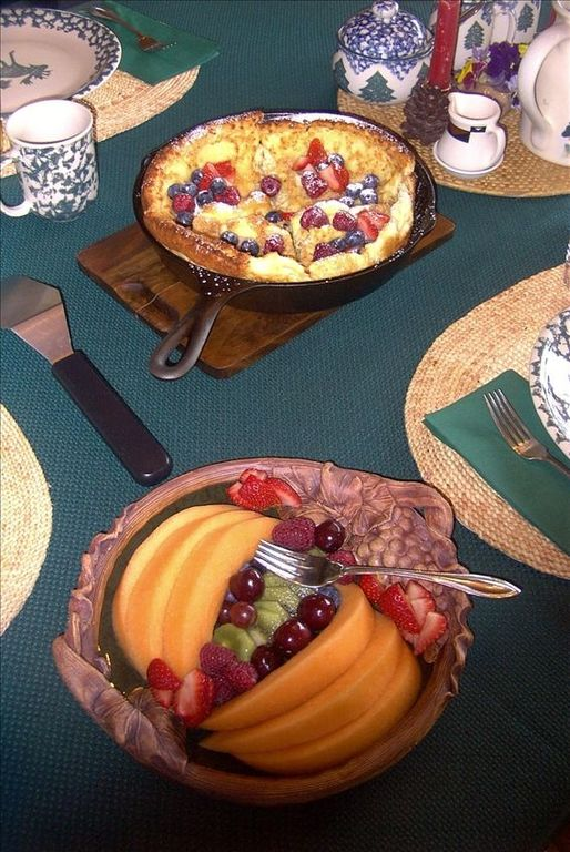 Breakfast Fare - German Pancake with fresh berries - yum!