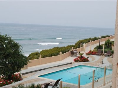 ocean view from one of 4 pools