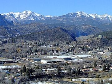 Bayfield cabin rental - Come to the city of Durango (pop. 17,000) as seen from college hill.