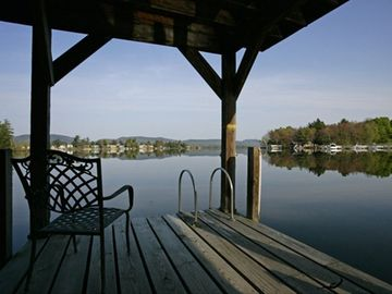 Sit, swim or fish off of the dock.