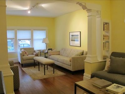 San Francisco apartment rental - First Parlor and portion of second parlor