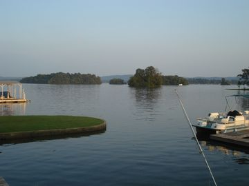 Hot Springs condo rental - The view from the our deck! Gorgeous Lake Hamilton!