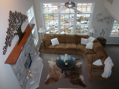 Big Boulder townhome rental - View from above.