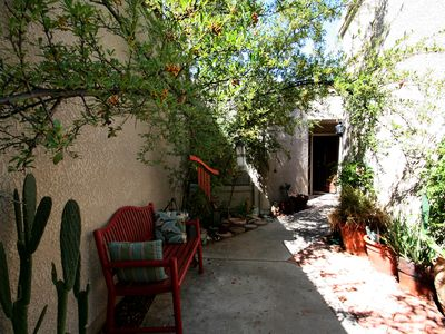 Courtyard to entrance of home