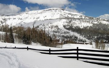 Beautiful snow covered scenery all around Brian Head.