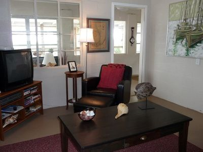 Carrabelle Beach house rental - Another view of the living room area