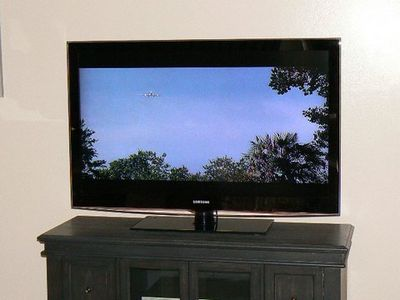 Large flat screen TV for your favorite shows and movies