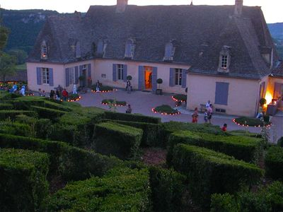 Candle-lit evening at nearby Marqueyssac gardens
