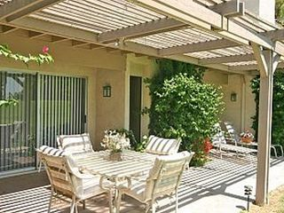Rancho Mirage condo photo - patio with misters and gas BBQ