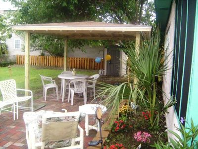 Tybee Island cottage rental - New patio and gazebo