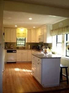 Newly remodeled kitchen, new cabinets and granite counter tops, breakfast bar