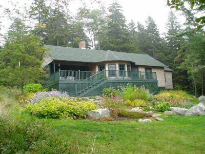 Seal Cove cottage rental - Seal Ledges with lawn for croquet or field games