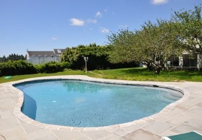 New pool and bluestone patio.