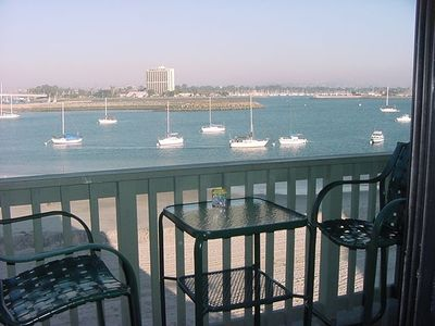 View of Mission Bay from Living Room and Balcony