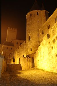 Laurac farmhouse rental - night on the Cité of Carcassonne