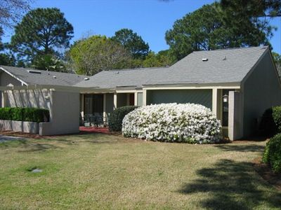 FRONT VIEW-LARGE YARD ON CORNER LOT