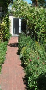 Private garden entry to McKenzie House