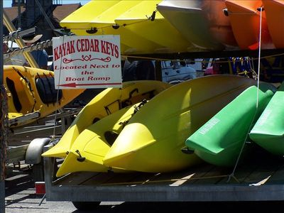 Cedar Key condo rental - Kayak rentals are within a couple of minutes from your condo!