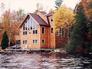 Saranac Lake house photo - The Lakehouse as seen from Lake Flower