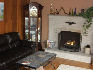 Lehighton house photo - curl up in front of the gas log fireplace