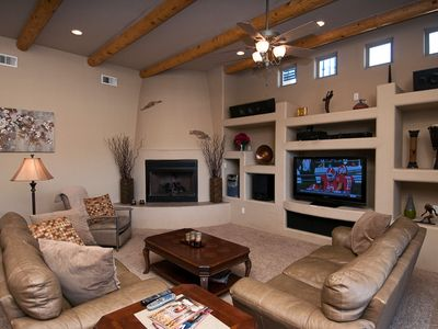 Family Room has Media Center and Fire Place