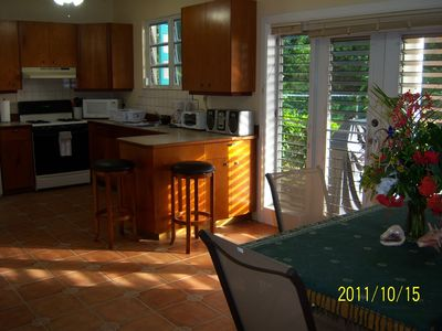 Johns Folly apartment rental - Little Lagoon SOUTH's full kitchen and dining room