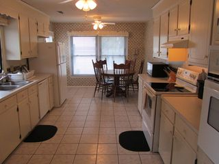 Isle of Palms house photo - Large, well-stocked Kitchen, two ovens, seats 5, two refrigerators in the house