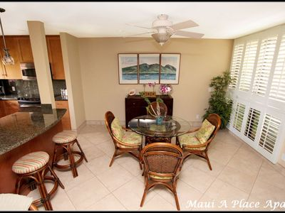 Dining from unit 39B Ekahi Village, One Bedroom-Two Bath, Ocean View