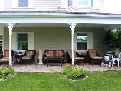 Relax on this shaded porch until the sun goes down!