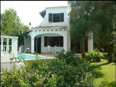 romantic villa with pool, balcony, terrace, garden, sea views