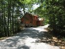 The drive up to the cabin. - Bryson City cabin vacation rental photo