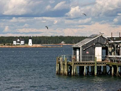 Picturesque Prospect Harbor with its quaint lighthouse.
