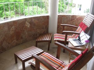 Playa del Carmen condo photo - The balcony is very private and perfect for a little quiet time