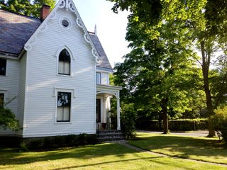 Rhinebeck house photo - Large maple trees surround the house, making it shady in summer, bright in fall