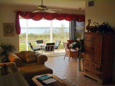 The incredible view from the lanai opens in to the living/dining area