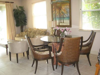 Waikoloa Beach Resort condo rental - Living/dining area has fresh new tile floor.