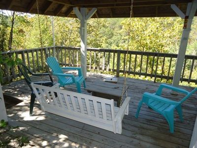 Sit on the gazebo. Have a glass of wine and relax listening to the creek below.