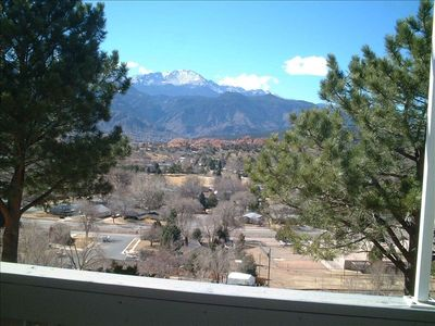View of Pikes Peak from the deck