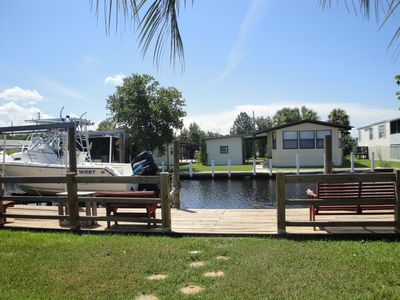 Boat dock, fish cleaning station, crab traps, great fishing from dock