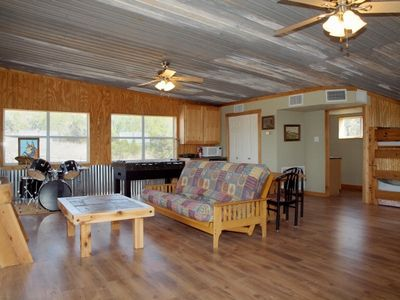 Lago Vista estate rental - Bunkhouse--Entertaining Area w. Futon, Foosball