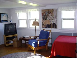 Block Island cottage photo - Living room with hollywood bed