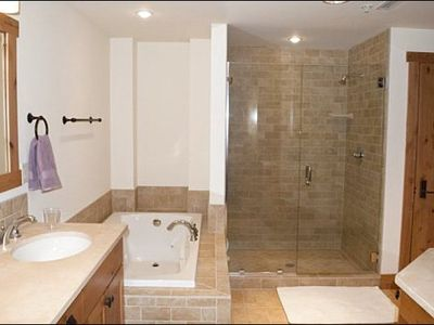 Steam Shower and Jetted Tub in the Third Bathroom