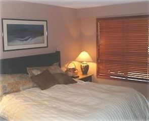 Whistler condo photo - The master bedroom with luxurious duvet