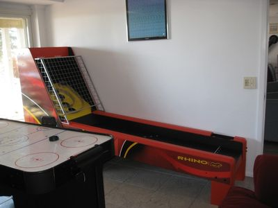 SkeeBall as well as Foosball, Bowling Machine and Air Hockey